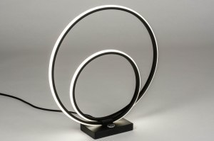 table lamp 73535 designer modern metal black matt round