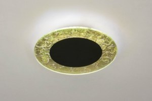 ceiling lamp 73543 sale modern contemporary classical art deco glass metal black matt gold round