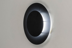 ceiling lamp 73544 modern metal black matt round