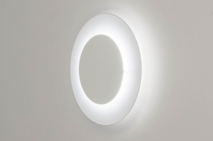 ceiling lamp 73545 modern metal white matt round