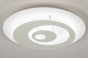 ceiling lamp 73547 modern retro contemporary classical metal white matt round