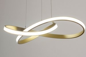 pendant light 73556 modern contemporary classical aluminium metal gold round
