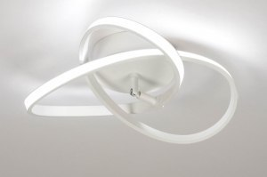 ceiling lamp 73562 modern metal white matt round