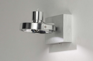 wandlamp 73572 modern aluminium geschuurd aluminium aluminium rond rechthoekig