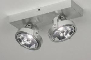 spot 73573 modern aluminium geschuurd aluminium aluminium rond rechthoekig