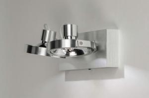 plafondlamp 73573 modern aluminium geschuurd aluminium aluminium rond rechthoekig