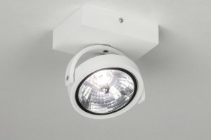 spotlight 73575 modern aluminium white matt round rectangular