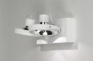 Lampara de techo 73576 Moderno Aluminio Blanco Mate Redonda Rectangular