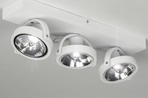 spotlight 73577 modern aluminium white matt round rectangular