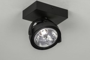spotlight 73578 modern aluminium black matt round rectangular