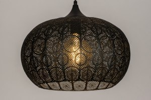 pendant light 73628 modern metal black matt round