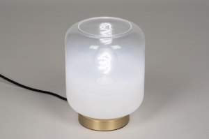 table lamp 73630 sale modern contemporary classical art deco glass white opal glass clear glass brass sanded white gold matt brass round