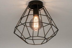 ceiling lamp 73633 modern retro metal black matt