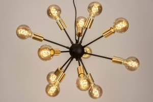 pendant light 73639 modern retro contemporary classical art deco brass sanded metal black matt gold matt brass round
