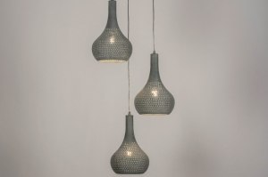pendant light 73661 rustic modern contemporary classical metal concrete gray round