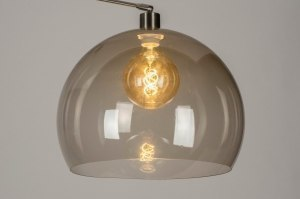 Zubehoer 73670 modern Retro Glas Kunststoff Kunststoffglas grau braun rund