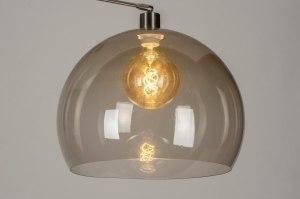 onderdeel 73670 modern retro glas kunststof acrylaat kunststofglas grijs bruin rond