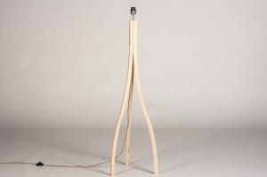 vloerlamp 73688 design modern hout licht hout stof zwart hout langwerpig
