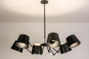 hanglamp 73760 sale industrie look modern metaal zwart mat rond
