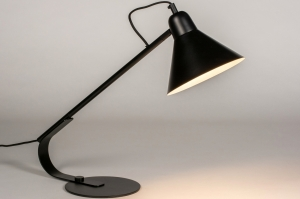 tafellamp 73806 industrie look modern retro metaal zwart mat