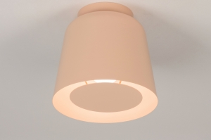 plafondlamp 73807 modern retro metaal roze rond