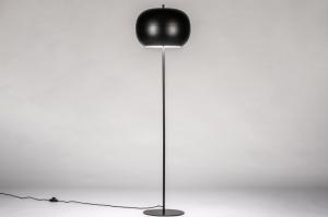 vloerlamp 73813 modern retro metaal zwart mat rond