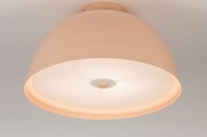 plafondlamp 73817 modern metaal roze rond