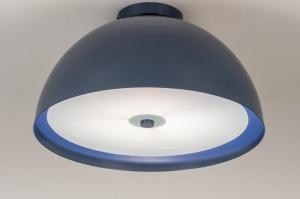 plafondlamp 73819 modern metaal blauw rond