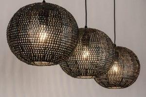 hanglamp 73824 industrie look landelijk rustiek modern metaal zwart brons antraciet donkergrijs rond