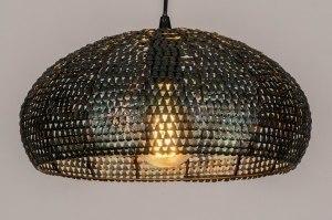 hanglamp 73828 industrie look landelijk rustiek modern metaal zwart roest bruin brons bruin rond