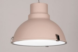 hanglamp 73861 industrie look landelijk rustiek modern voor kinderen metaal roze rond