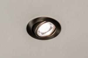 spot encastrable 73872 moderne acier poli acier du nickel gris d acier rond