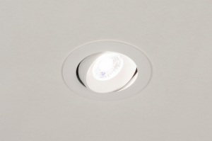 spot encastrable 73878 design rural rustique moderne aluminium plastique blanc mat rond