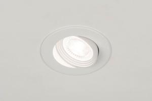 spot encastrable 73882 rural rustique moderne aluminium plastique polycarbonate blanc mat rond