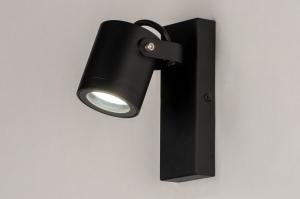 buitenlamp 73890 industrie look modern aluminium metaal zwart mat rond langwerpig