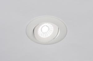 inbouwspot 73901 design modern aluminium wit mat rond
