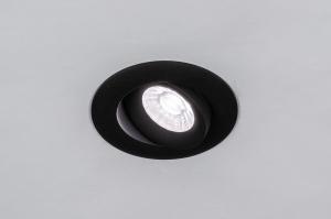 spot encastrable 73902 design moderne aluminium noir mat rond