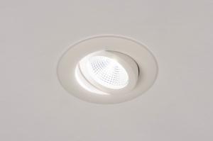inbouwspot 73903 design modern aluminium wit mat rond