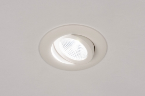 spot encastrable 73903 design moderne aluminium blanc mat rond