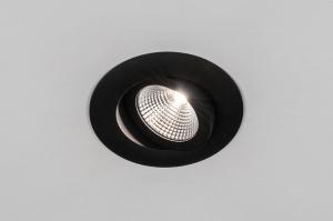 inbouwspot 73904 design modern aluminium zwart mat rond