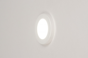 plafondlamp 73930 modern kunststof wit mat rond