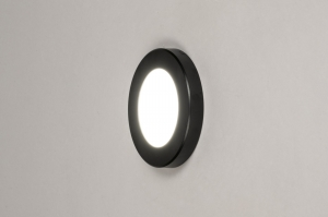 Spot 73931 modern Kunststoff schwarz rund