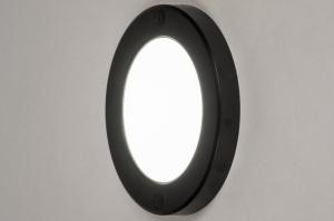 plafondlamp 73932 modern kunststof zwart wit rond