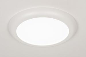 plafonnier 73937 moderne plastique blanc mat rond