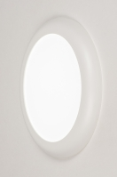 plafondlamp 73937 modern kunststof wit mat rond