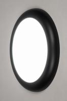 plafondlamp 73938 design modern kunststof zwart mat rond