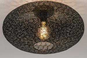 plafondlamp 73940 modern eigentijds klassiek metaal zwart mat rond