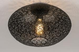 plafondlamp 73941 modern eigentijds klassiek metaal zwart mat rond