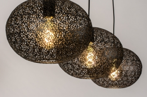 hanglamp 73948 modern eigentijds klassiek metaal zwart mat rond langwerpig