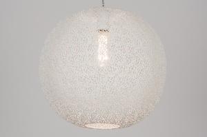 hanglamp 73950 modern metaal wit mat rond